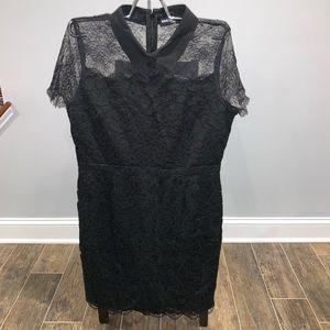 Karl Lagerfeld Black Lace Collard LBD Dress. 14